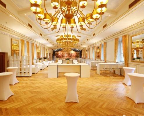 Business Einrichtung im Festsaal der Location Wolkenburg!